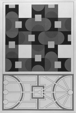 Matt Mullican (American, born 1951). <em>City Plan</em>, 1988. Etching with 16 gauge copper plates, sheet: 22 x 15 1/8 in. (55.9 x 38.4 cm). Brooklyn Museum, Frank L. Babbott Fund, 1990.125.9. © artist or artist's estate (Photo: Brooklyn Museum, 1990.125.9_bw.jpg)