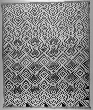 Kuba (Shoowa subgroup). <em>Raffia Cloth</em>, 20th century. Raffia, 21 x 25 1/4 in. (53.0 x 65.0 cm). Brooklyn Museum, Purchased with funds given by Frieda and Milton F. Rosenthal, 1990.130.2. Creative Commons-BY (Photo: Brooklyn Museum, 1990.130.2_bw.jpg)