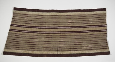 Yorùbá. <em>Woman's wrapper (aṣọ-òkè)</em>, 20th century. Cotton, silk, dye, 41 x 73 in. (104.1 x 185.4 cm). Brooklyn Museum, Purchased with funds given by Frieda and Milton F. Rosenthal, 1990.132.3. Creative Commons-BY (Photo: , 1990.132.3_PS9.jpg)