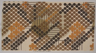 Frank Lloyd Wright (American, 1867-1959). <em>Fabric Sample from The Taliesin Line</em>, 1955. Cotton and rayon, 47 1/2 x 26in (120.7 x 66 cm). Brooklyn Museum, Modernism Benefit Fund, 1990.140.2 (Photo: Brooklyn Museum, 1990.140.2_PS9.jpg)