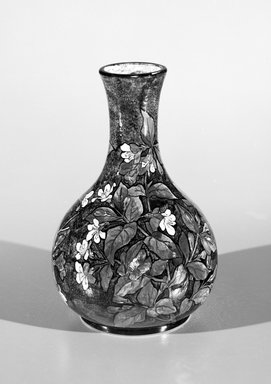 John Bennett (English, 1840-1907, active United States 1878-1883). <em>Vase</em>, ca. 1880. Glazed earthenware, Height: 10 1/16 in. - diameter: 6 15/16 in. Brooklyn Museum, Purchased with funds given by Emma and Jay Lewis and H. Randolph Lever Fund, 1990.159.1. Creative Commons-BY (Photo: Brooklyn Museum, 1990.159.1_bw.jpg)
