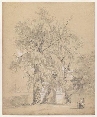 John Henry Hill (American, 1839-1922). <em>Hoboken, New Jersey</em>, 1854. Graphite and white on paper, Sheet: 11 3/4 x 9 5/8 in. (29.8 x 24.4 cm). Brooklyn Museum, Purchased with funds given by Mr. and Mrs. Leonard L. Milberg, 1990.18.1 (Photo: Brooklyn Museum, 1990.18.1_IMLS_PS3.jpg)