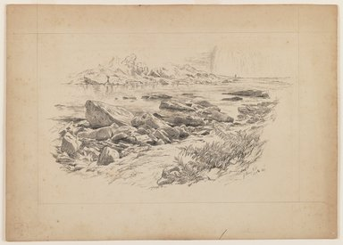 John Henry Hill (American, 1839-1922). <em>Genesee Falls</em>, October 1862 or 1864. Pen and ink on paper, Sheet: 8 7/16 x 11 3/4 in. (21.4 x 29.8 cm). Brooklyn Museum, Purchased with funds given by Mr. and Mrs. Leonard L. Milberg, 1990.18.2 (Photo: Brooklyn Museum, 1990.18.2_IMLS_PS3.jpg)