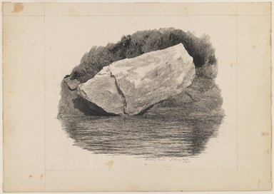 John Henry Hill (American, 1839-1922). <em>Peabody River</em>, 1863. Pen and ink on paper, Sheet: 6 7/8 x 9 3/4 in. (17.5 x 24.8 cm). Brooklyn Museum, Purchased with funds given by Mr. and Mrs. Leonard L. Milberg, 1990.18.3 (Photo: Brooklyn Museum, 1990.18.3_IMLS_PS3.jpg)