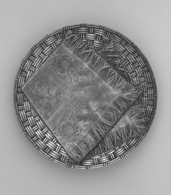 Kennard & Jenks (1875-1880). <em>Tazza</em>, ca. 1878. Silver, height: 1 3/4 in. (4.4 cm); diameter: 10 1/2 in. (26.7 cm). Brooklyn Museum, A. Augustus Healy Fund, Carll H. de Silver Fund and Gift of Daniel Morris and Denis Gallion, 1990.194.8. Creative Commons-BY (Photo: Brooklyn Museum, 1990.194.8_bw.jpg)