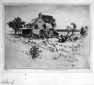 George T. Plowman (American, 1860-1932). <em>Jan Martense Schenck</em>, n.d. Etching, Image: 6 15/16 x 9 1/16 in. (17.6 x 23 cm). Brooklyn Museum, Gift of Mrs. Erastus Corning V, 1990.206 (Photo: Brooklyn Museum, 1990.206_bw.jpg)
