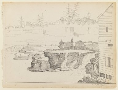 Alexander Robertson (American, born Scotland, 1772-1841). <em>From the Mill</em>, September 11, 1796. Black ink on off-white, moderately thick, moderately textured laid paper, Sheet: 8 3/4 x 11 1/2 in. (22.2 x 29.2 cm). Brooklyn Museum, Purchased with funds given by Mr. and Mrs. Leonard L. Milberg, 1990.216.2 (Photo: Brooklyn Museum, 1990.216.2_IMLS_PS3.jpg)