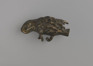 Akan. <em>Gold-weight (abrammuo): porcupine</em>, 19th century. Copper alloy, length: 3 in. (length: 4.6 cm. Brooklyn Museum, Gift of Shirley B. Williams, 1990.221.63. Creative Commons-BY (Photo: Brooklyn Museum, 1990.221.63_PS6.jpg)