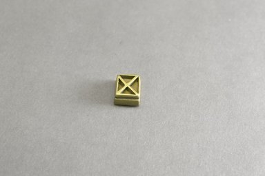 Akan. <em>Gold-weight (abrammuo): geometric</em>, 19th century. Copper alloy, width: 3/4 in. (height: 1.0 cm. Brooklyn Museum, Gift of Shirley B. Williams, 1990.221.82. Creative Commons-BY (Photo: Brooklyn Museum, 1990.221.82_front_PS5.jpg)