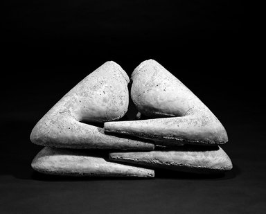 Win Knowlton (American, born 1953). <em>[Untitled]</em>, 1986. Cast concrete, 20 x 36 x 18in. (50.8 x 91.4 x 45.7cm). Brooklyn Museum, Gift of Gordon Locksley and George T. Shea, 1990.231.2. © artist or artist's estate (Photo: Brooklyn Museum, 1990.231.2_bw.jpg)