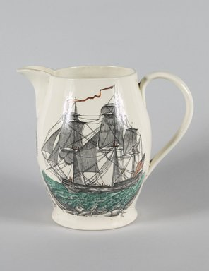 William Adams & Sons (1769-present). <em>Pitcher</em>, ca. 1930. Glazed earthenware, 8 1/4 x 9 x 6 in. Brooklyn Museum, Gift of Mrs. Nathan L. Burnett, 1990.29.2. Creative Commons-BY (Photo: Brooklyn Museum, 1990.29.2_PS5.jpg)