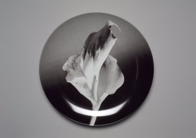 "Robert Mapplethorpe (American, 1946-1989). <em>Plate, ""Flower,""</em> 1989. Porcelain, 1 1/4 x 12 x 12 in. (3.2 x 30.5 x 30.5 cm). Brooklyn Museum, Gift of Swid Powell, 1990.34.5. Creative Commons-BY (Photo: Brooklyn Museum, 1990.34.5.jpg)"