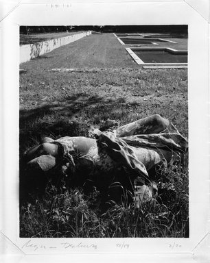 Regina DeLuise (American, born 1959). <em>Headless Statue</em>, 1988. Palladium photograph, 8 x 10 in. (20.3 x 25.4 cm). Brooklyn Museum, Purchased with funds given by Richard Menschel, Eileen and Adam Boxer, Dr. Joel E. Hershey, Harry Kahn, Marilynn and Ivan Karp, and Merrill Lynch & Co., Inc., 1990.67.2. © artist or artist's estate (Photo: Brooklyn Museum, 1990.67.2_bw.jpg)