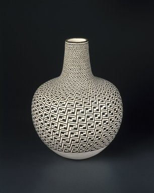 Grace Chino (Haak'u (Acoma Pueblo), 1929-1995). <em>Vase</em>, 1989. Clay, slip, 15  x 36 3/8 in. (38.1 x 92.4cm). Brooklyn Museum, Augustus Graham School of Design Fund, 1990.68. Creative Commons-BY (Photo: Brooklyn Museum, 1990.68_SL1.jpg)