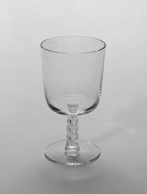 George Sakier (American, 1897-1988). <em>Glass</em>, ca. 1930s-1940s. Glass, 5 5/16 x 3 3/16 in. (13.5 x 8.1 cm). Brooklyn Museum, Gift of Mark Isaacson, Mark McDonald, Alan and Monah Gettner, and Fifty/50, 1990.83.22. Creative Commons-BY (Photo: Brooklyn Museum, 1990.83.22_bw.jpg)