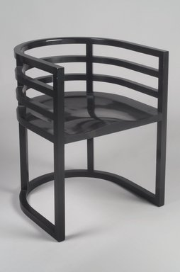 Richard Meier (American, born 1934). <em>Armchair, No. 810</em>, ca. 1982. Hard maple, laminated hard maple veneer, 27 5/8 x 21 x 20in. (70.2 x 53.3 x 50.8cm). Brooklyn Museum, Gift of Knoll International, 1990.86.4. Creative Commons-BY (Photo: Brooklyn Museum, 1990.86.4.jpg)