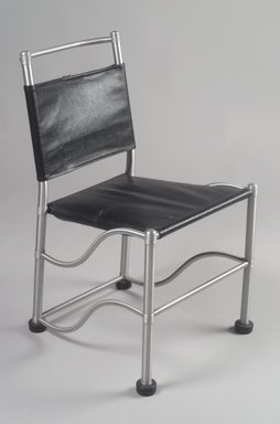 Warren McArthur (1885-1961). <em>Side Chair</em>, ca. 1935. Aluminum, leatherette, rubber, 31 3/16 x 18 1/2 x 23 1/2in. (79.2 x 47 x 59.7cm). Brooklyn Museum, Modernism Benefit Fund, 1990.95. Creative Commons-BY (Photo: Brooklyn Museum, 1990.95.jpg)