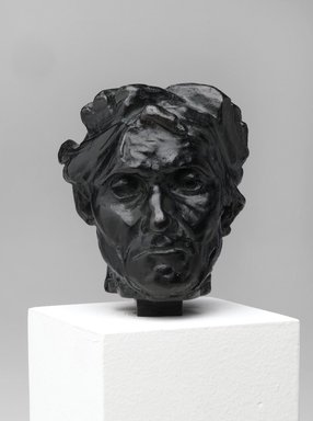 Auguste Rodin (French, 1840-1917). <em>Andrieu d'Andres, Head of the Reduction, with Fragments of the Hand (Andrieu d'Andres, tête de la réduction avec fragments de main)</em>, after 1900; cast 1985. Bronze, 2 3/4 × 2 3/8 × 2 5/8 in. (7 × 6 × 6.7 cm). Brooklyn Museum, Gift of Cantor Fitzgerald, Inc., 1991.108.1. Creative Commons-BY (Photo: Brooklyn Museum, 1991.108.1_front_PS2.jpg)