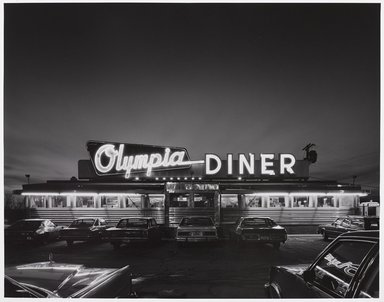 Tom Baril (American, born 1952). <em>Olympia Diner 1983</em>, 1983. Selenium-toned gelatin silver photograph, sheet: 16 x 19 3/4 in. Brooklyn Museum, Gift of the artist, 1991.114. © artist or artist's estate (Photo: Brooklyn Museum, 1991.114_PS9.jpg)