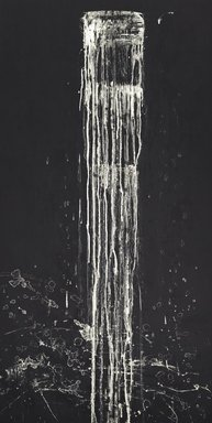 Pat Steir (American, born 1940). <em>Long Vertical Falls #1</em>, 1991. Soapground and spit bite aquatint etching on paper, sheet: 53 1/4 x 30 in. (135.3 x 76.2 cm). Brooklyn Museum, Carll H. de Silver Fund, 1991.120.1. © artist or artist's estate (Photo: Brooklyn Museum, 1991.120.1_PS2.jpg)