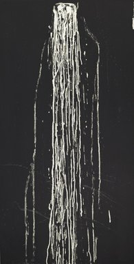 Pat Steir (American, born 1940). <em>Long Vertical Falls #4</em>, 1991. Soapground and spit bite aquatint etching on heavy wove paper, sheet: 53 1/4 x 30 in. (135.3 x 76.2 cm). Brooklyn Museum, Carll H. de Silver Fund, 1991.120.4. © artist or artist's estate (Photo: Brooklyn Museum, 1991.120.4_PS2.jpg)