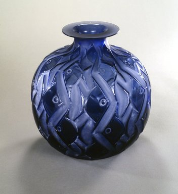 "Attributed to Susan Lalique Haviland (1899-1989). <em>""Penthievre"" Vase</em>, ca. 1926. Glass, 10 1/4 x 10 1/4 x 10 1/4 in. (26.0 x 26.0 x 26.0 cm). Brooklyn Museum, Gift of Mr. and Mrs. V. James Cole, 1991.136. Creative Commons-BY (Photo: Brooklyn Museum, 1991.136_transp350.jpg)"