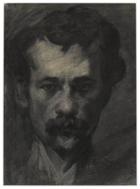 Jerome Myers (American, 1867-1940). <em>Self Portrait</em>, ca. 1895. Charcoal on laid paper, 11 1/8 x 8 1/4in. (28.3 x 21cm). Brooklyn Museum, Dick S. Ramsay Fund, 1991.162.1. © artist or artist's estate (Photo: Brooklyn Museum, 1991.162.1_PS4.jpg)