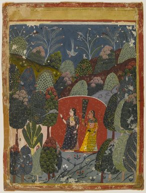 Indian. <em>Gauri Ragini</em>, ca. 1660. Opaque watercolor on paper, sheet: 7 7/8 x 5 1/2 in. (20.0 x 14.0 cm). Brooklyn Museum, Gift of Emily Manheim Goldman, 1991.180.5 (Photo: Brooklyn Museum, 1991.180.5_IMLS_PS4.jpg)