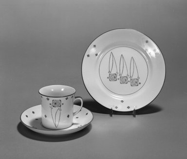 George Logan (Scottish, active 1900-1914). <em>Cup and Saucer</em>, ca. 1903. Porcelain. 
