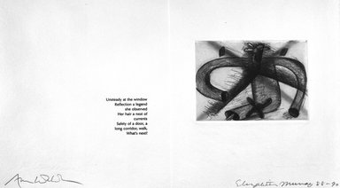 Elizabeth Murray (American, 1940-2007). <em>Page from Her Story</em>, 1988-1990. Etching on photo offset lithograph on paper, sheet: 11 3/8 x 17 3/4 in. (28.9 x 45.1 cm). Brooklyn Museum, A. Augustus Healy Fund, 1991.21.8. © artist or artist's estate (Photo: Brooklyn Museum, 1991.21.8_bw.jpg)