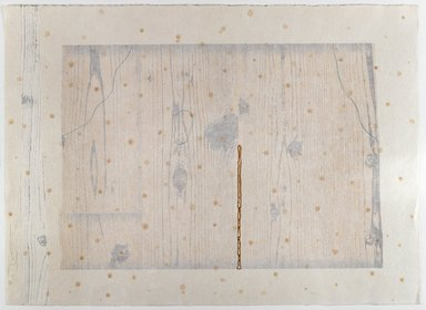 Shoichi Ida (Japanese, 1941-2006). <em>Garden Project - Wood, Paper, Fire and Rain - Between Vertical and Horizon</em>, 1986. Woodcut, 29 1/4 x 21 1/4 in. (74.0 x 54.0 cm). Brooklyn Museum, Gift of Nancy Genn, 1991.215.10. © artist or artist's estate (Photo: Brooklyn Museum, 1991.215.10_IMLS_PS4.jpg)