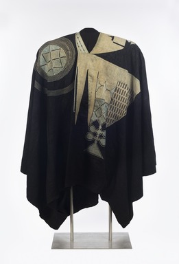Yorùbá. <em>Prestige robe (agbádá or dàńdógó)</em>, 20th century. Cotton, silk, and indigo, 49 × 103 × 2 in. (124.5 × 261.6 × 5.1 cm). Brooklyn Museum, Gift of Dr. and Mrs. Philip Gould, 1991.230.2. Creative Commons-BY (Photo: , 1991.230.2_front_PS11.jpg)