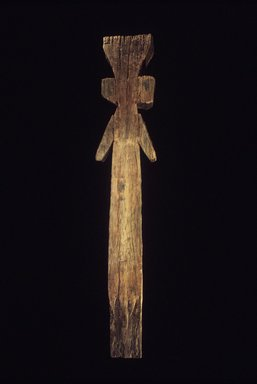Araucanian. <em>Grave Post</em>. Carved wood, 91 1/2 x 17 1/2 x 7 in. Brooklyn Museum, Gift of Catalina K. Meyer, 1991.232. Creative Commons-BY (Photo: Brooklyn Museum, 1991.232.jpg)