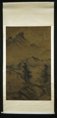 Jiang Song. <em>Landscape with Fisherman</em>, 1368-1644. Hanging Scroll, Ink on paper, Overall: 93 x 43 in. (236.2 x 109.2 cm). Brooklyn Museum, Gift of C.C. Wang & Family Collection, 1991.237.2 (Photo: Brooklyn Museum, 1991.237.2_IMLS_SL2.jpg)