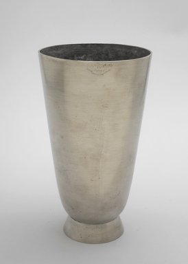Marion Anderson Noyes (American, 1907-2002). <em>Vase</em>, ca. 1933. Pewter, 7 x 4 x 4 in. (17.8 x 10.2 x 10.2 cm). Brooklyn Museum, Gift of Marion Anderson Noyes, 1991.258.9. Creative Commons-BY (Photo: Brooklyn Museum, 1991.258.9.jpg)