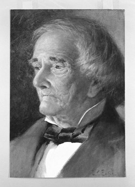 Lawrence Carmichael Earle (American, 1845-1921). <em>An Elderly Gentleman</em>, ca. 1880. Watercolor over traces of graphite on paper, 13 1/8 x 9 1/8in. (33.3 x 23.2cm). Brooklyn Museum, Gift of Stanley P. Berney, 1991.263 (Photo: Brooklyn Museum, 1991.263_bw.jpg)