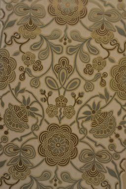 Robert Graves Co.. <em>Wallpaper</em>, ca. 1880. Metallic inks on paper, 45 x 19 7/16 in. (114.3 x 49.4 cm). Brooklyn Museum, Gift of Mrs. John J. Ide,  by exchange, 1991.39 (Photo: Brooklyn Museum, 1991.39.jpg)