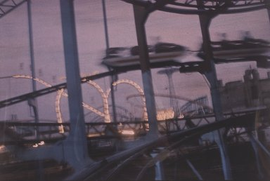 Lynn Hyman Butler (American, born 1953). <em>Roller Coaster at Night</em>, 1988. Silver dye bleach photograph (Cibachrome), image: 9 x 13 1/4 in. (22.9 x 33.7 cm). Brooklyn Museum, Gift of Ilford Photo Corporation, 1991.59.10. © artist or artist's estate (Photo: Brooklyn Museum, 1991.59.10.jpg)