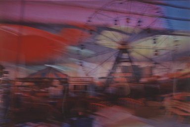 Lynn Hyman Butler (American, born 1953). <em>Wonder Wheel at Night</em>, ca. 1988. Silver dye bleach photograph (Cibachrome), image: 9 1/16 x 13 3/8 in. (23 x 34 cm). Brooklyn Museum, Gift of Ilford Photo Corporation, 1991.59.5. © artist or artist's estate (Photo: Brooklyn Museum, 1991.59.5.jpg)