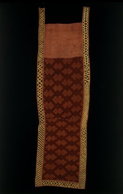 Kuba. <em>Overskirt</em>, late 19th or early 20th century. Raffia, 75 1/2 x 22 in. (191.8 x 55.9 cm). Brooklyn Museum, Purchased with funds given by Frieda and Milton F. Rosenthal, 1991.72. Creative Commons-BY (Photo: Brooklyn Museum, 1991.72_SL3.jpg)
