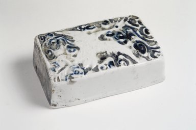 <em>Water Dropper</em>, 19th century. Porcelain, 1 1/2 x 4 1/2 x 2 7/8in. (3.8 x 11.4 x 7.3cm). Brooklyn Museum, Gift of the Estate of Charles A. Brandon, 1991.74.35. Creative Commons-BY (Photo: Brooklyn Museum, 1991.74.35.jpg)