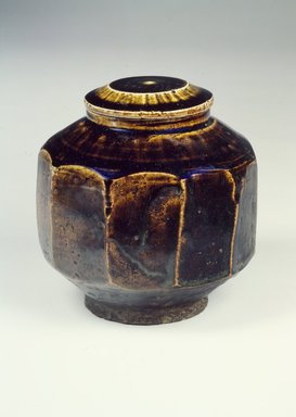 <em>Jar with Lid</em>, 19th century. Stoneware, glaze, Jar:. Brooklyn Museum, Gift of the Estate of Charles A. Brandon, 1991.74.36a-b. Creative Commons-BY (Photo: Brooklyn Museum, 1991.74.36a-b.jpg)