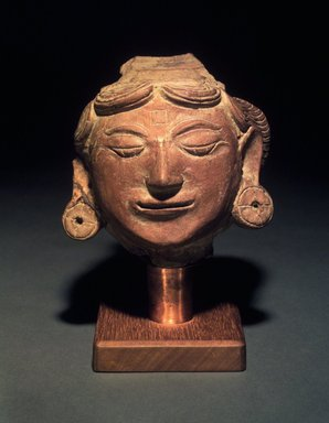<em>Head of a Female</em>, 13th-14th century. Terracotta, height: 4 3/4 in. Brooklyn Museum, Gift of Cynthia Hazen Polsky, 1991.79.1. Creative Commons-BY (Photo: Brooklyn Museum, 1991.79.1.jpg)