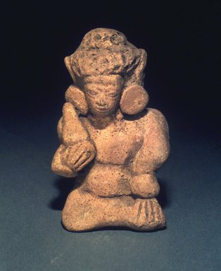 <em>Seated Figurine</em>, 13th-14th century. Terracotta, height: 3 1/2 in. Brooklyn Museum, Gift of Cynthia Hazen Polsky, 1991.79.12. Creative Commons-BY (Photo: Brooklyn Museum, 1991.79.12.jpg)