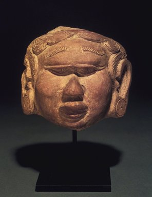 <em>Head of a Female</em>, 13th-14th century. Terracotta, 5 x 5 in. Brooklyn Museum, Gift of Cynthia Hazen Polsky, 1991.79.7. Creative Commons-BY (Photo: Brooklyn Museum, 1991.79.7.jpg)