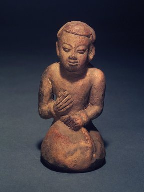 "<em>Kneeling ""Chinese"" Man</em>, 13th-14th century. Terracotta, 5 1/2 x 2 3/4 (approx.) x 3 in. Brooklyn Museum, Gift of Cynthia Hazen Polsky, 1991.79.8. Creative Commons-BY (Photo: Brooklyn Museum, 1991.79.8.jpg)"