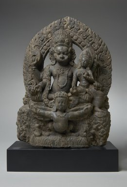 <em>Narasimha</em>, 17th century. Gray sandstone, 15 × 9 1/2 × 4 1/4 in., 17.5 lb. (38.1 × 24.1 × 10.8 cm, 7.94kg). Brooklyn Museum, Gift of Stephanie and David W. Young, 1991.82. Creative Commons-BY (Photo: Brooklyn Museum, 1991.82_PS11.jpg)
