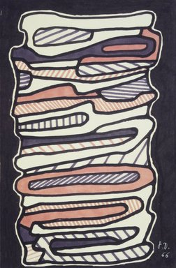 Jean Dubuffet (French, 1901-1985). <em>L'Escalier I</em>, 1966. Felt tip pen on paper, 9 3/4 x 6 7/16 in. (24.8 x 16.4 cm). Brooklyn Museum, Bequest of William K. Jacobs, Jr., 1992.107.8. © artist or artist's estate (Photo: Brooklyn Museum, 1992.107.8_transp3707.jpg)