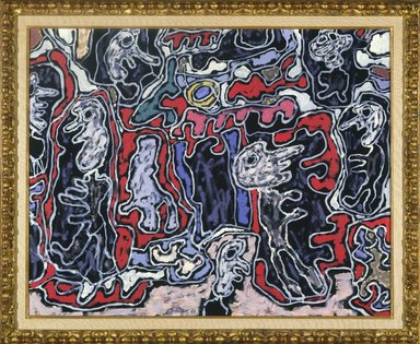 Jean Dubuffet (French, 1901-1985). <em>Rue Tournique Bourlique</em>, 1963. Oil on canvas, 28 13/16 x 36 1/8 in. (73.2 x 91.8 cm). Brooklyn Museum, Bequest of William K. Jacobs, Jr., 1992.107.9. © artist or artist's estate (Photo: Brooklyn Museum, 1992.107.9_SL1.jpg)