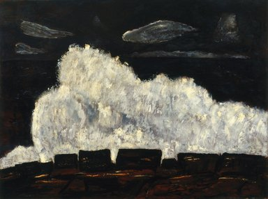 Marsden Hartley (American, 1877-1943). <em>Evening Storm, Schoodic, Maine No. 2</em>, 1942. Oil on fabricated board, 30 x 40 1/2in. (76.2 x 102.9cm). Brooklyn Museum, Bequest of Edith and Milton Lowenthal, 1992.11.18. © artist or artist's estate (Photo: Brooklyn Museum, 1992.11.18_SL1.jpg)